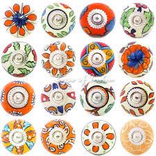 Orange Ceramic Decorative Door Knobs Truly Unique Products