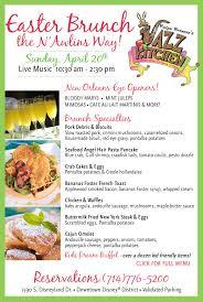 Easter Brunch Buffet Menu by Enjoy Easter Brunch At Ralph Brennan U0027s Jazz Kitchen