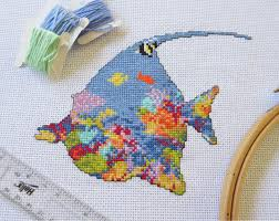 coral reef fish cross stitch pattern printable tropical fish