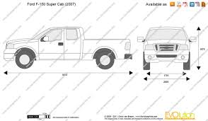 2012 ford f150 dimensions the blueprints com vector drawing ford f 150 cab