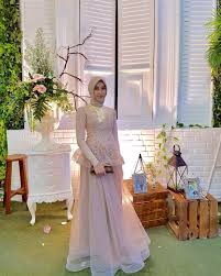 wedding dress brokat gaun utk busana muslim fashion muslim kebaya and