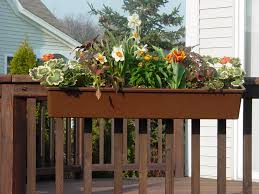 planters astonishing planters to hang on railing garden planter