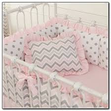 pleasant light pink and grey baby bedding brilliant home