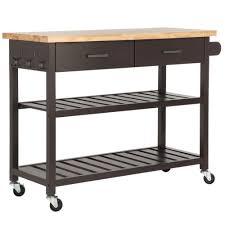 homegear deluxe kitchen storage cart island w rubberwood cutting