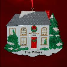 white winter new home personalized ornaments by