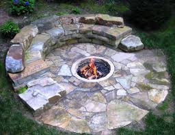 Patio And Firepit by How To Build A Stone Fire Pit By Drystone Joe