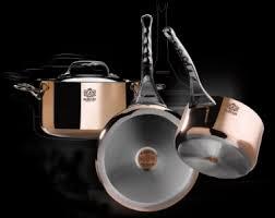batterie de cuisine à induction inox et cuivre coup en cuisine pour de buyer