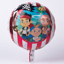 disney jake land pirates foil helium balloon card