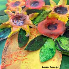 clay flower bouquets u2013 painted paper art