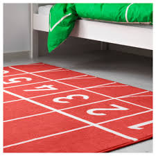 springa rug low pile red 133x160 cm ikea