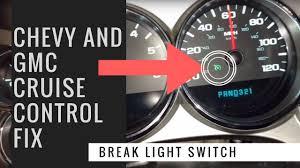gmc brake light switch replacement gm silverado cruise control fix break light switch replacement