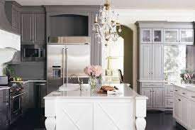 island kitchen cabinets white cabinets and gray lower cabinets with gray kitchen
