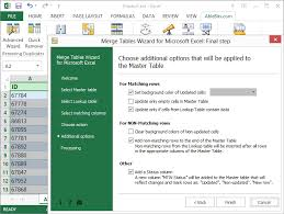 combine matching data from 2 excel worksheets into one in seconds