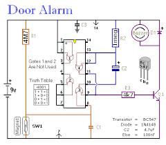 simple door alarm circuit
