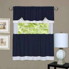 Blue And White Window Curtains Navy Window Treatments The Home Depot