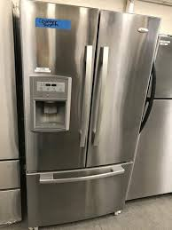 Counter Depth Stainless Steel Refrigerator French Door - whirlpool gi0fsaxvy 36 in w 19 7 cu ft french door refrigerator