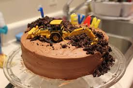 construction birthday cakes construction themed birthday cake plowing forward