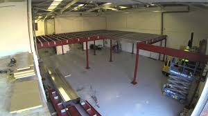 constructing a mezzanine floor in record time timelapse video