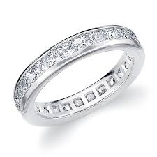 square cut rings images Diamond eternity band wedding ring princess square cut 14k white jpg