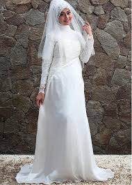 islamic wedding dresses buy discount delicate stretch charmeuse high collar neckline a
