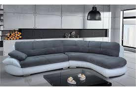 canapé angle gris blanc canapé d angle regal design