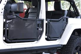 wrangler jeep black spiderwebshade rancho rock gear jk4d front tube door ranch rock