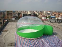 half transparent inflatable dome tent bubble tent for lawn camping