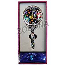 decorative hand mirror mother of pearl flowers 6 vanity held 6 e2