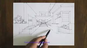 how to draw a house courtyard youtube