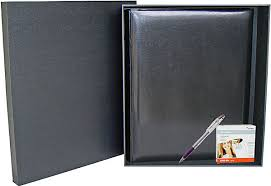 Dry Mount Photo Album Classic Large Black Photo Album And Deluxe Box Package Deal