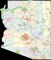 Map Of Arizona Cities The New Deal In Arizona