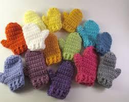 crocheted mini mittens ornament craftbnb