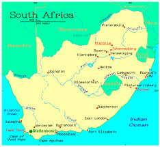 South Africa On Map by History