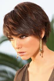 short brunette hairstyles front and back short straight casual pixie hairstyle dark brunette mocha