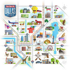 Dallas Map by Chris Vogel Design Take Time For Dallas