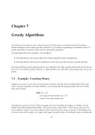 twenty five dollars greedy algorithms algorithm study notes docsity