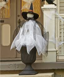Halloween Decorations Crafts by Witch Topiary Makeitfuncrafts Com Holiday Ideas Pinterest