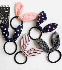 lovely rabbit ear hair ornaments hair ring rubber band