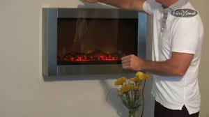 stainless steel wall mounted electric fireplace instructional