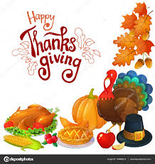 corner frame with thanksgiving icons stock vector alffisky