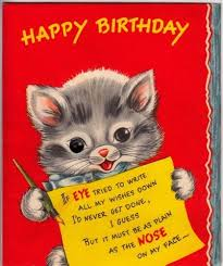 421 best birthday cats images on vintage birthday