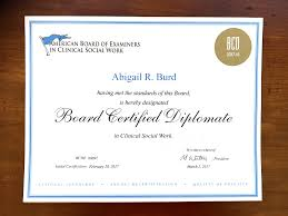 what is a board certified diplomate in clinical social work or