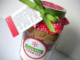 christmas cookie jar decorations recipe card with ribbon