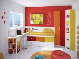 bedroom modern design boys paint white orange yellow young