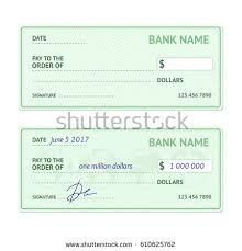 template blank classic bank check business stock vector 610625762