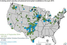 list of wind farms in the united states