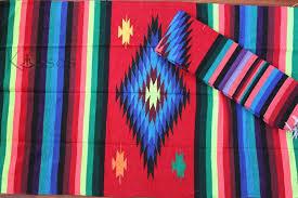 new 4x6 large serape southwestern mexican blanket horse saddle