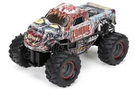 new monster truck amazon com new bright r c f f monster jam zombie 1 15 scale toys