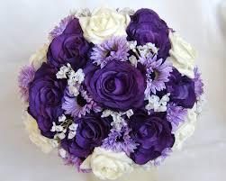 purple bouquets modern style purple bridal bouquets with silk wedding bouquet