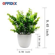 plantes pour bureau offidix mini plastique eucalyptus plantes artificielles avec vase